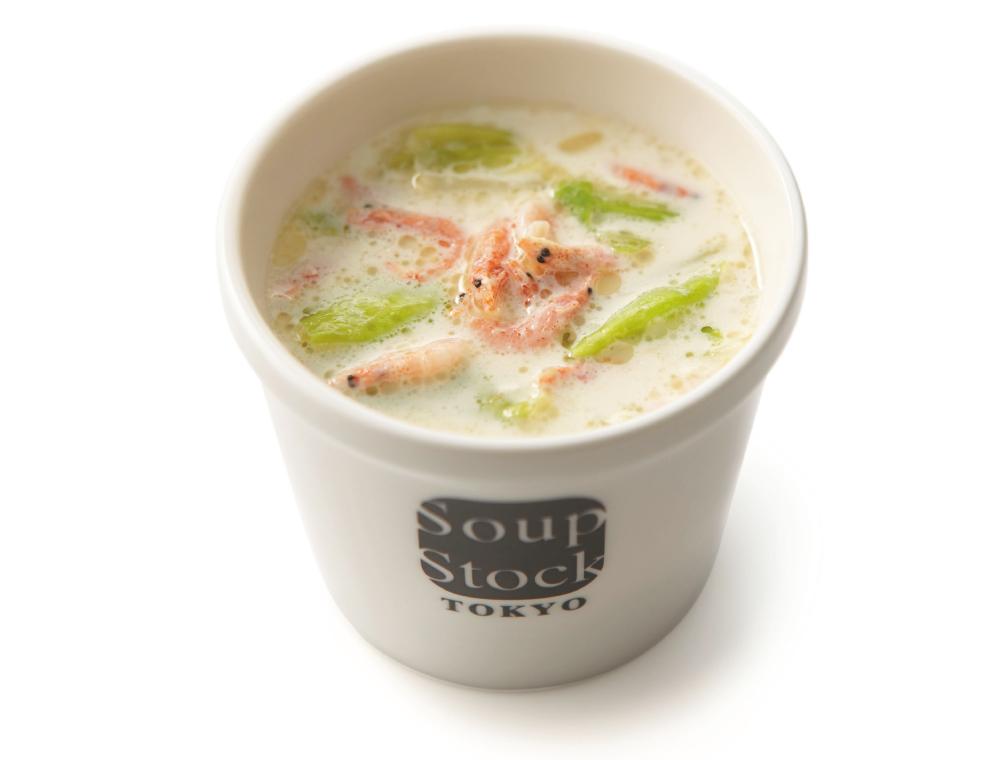 駿河湾産桜海老のクリームスープ