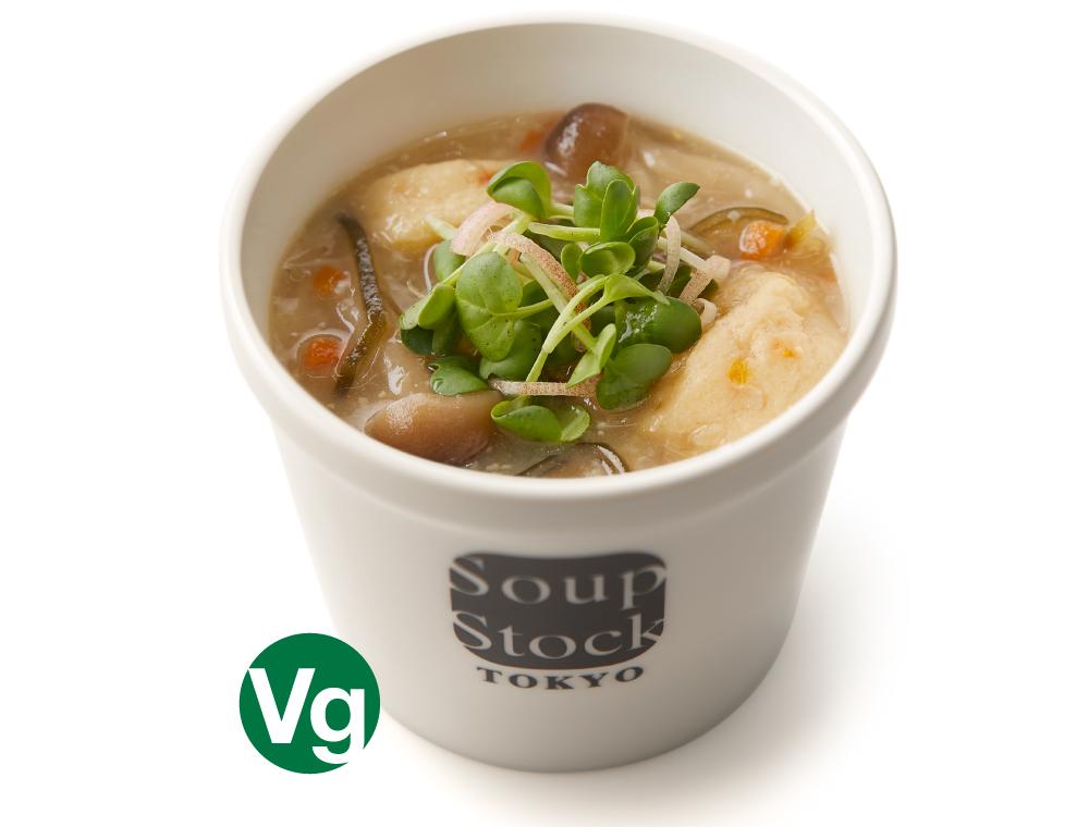 麴味噌とがんもどきの和風スープ